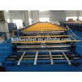 Machine en formage de rouleaux de panneaux de toit à double couche en aluminium et en acier inoxydable, machine de formage de toit à deux profils