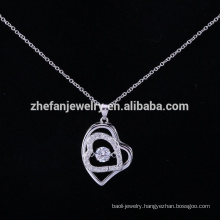 Valentine's couples jewelry pendant