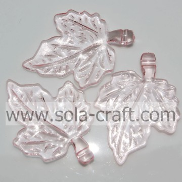 Clear Small Red Color Maple Leaves Plastic Beads for Pendant of Necklace