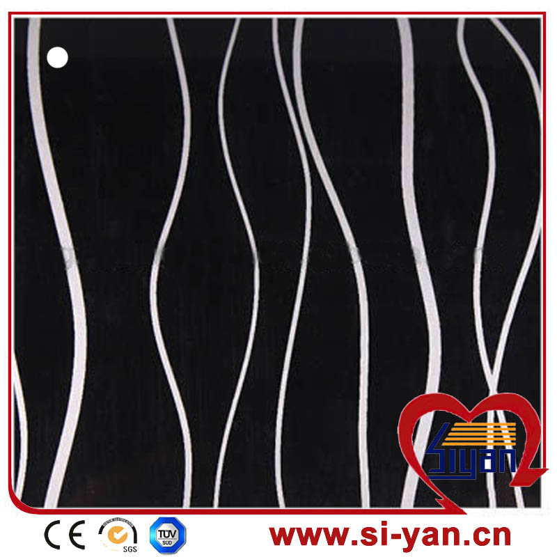 Modern design pvc membrane foil for door