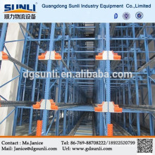 High quality Selective storage radio shuttle pallet racking