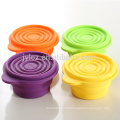 silicone foldable pet bowl