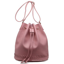 New Arrival and Hot Sell Customized PU Leather Bucket Handbag