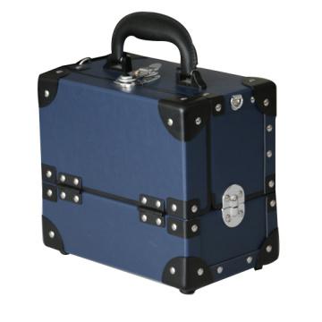 Vintage azul cosméticos caso cosmético vitrina