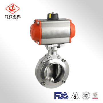 Sanitary Clamp End Pneumatic Butterfly Valve