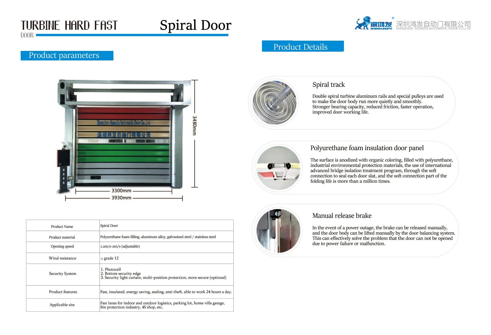 spiral roller shutter door
