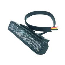 DC 10 -30V 6 LED luz estroboscópica luz trasera, luz estroboscópica lateral de advertencia de motocicleta