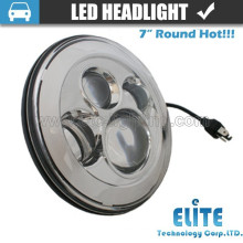 "7"" round led headlight for jeep truck suv with hi lo beam"