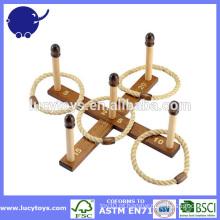 Gigante jogo ao ar livre Ring ring de madeira