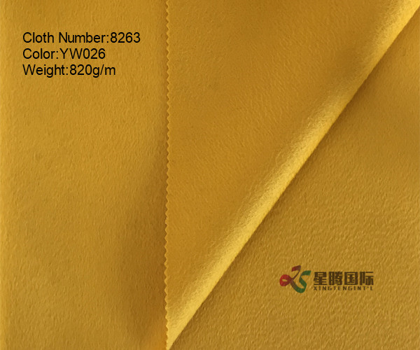 High Quality Double Face Water-wave 100% Wool Fabric Both Sides