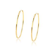 97343 xuping en gros pas cher simple élégant 24 k or couleur mode femmes boucles d'oreilles