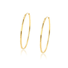 97343 xuping wholesale cheap simple elegant 24k gold color fashion women's hoop earrings