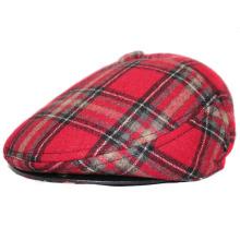 Men′s Winter Wool Plaid Flat Cap