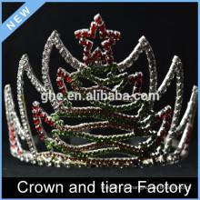 Coronas de la tiara del feliz cumpleaños del año nuevo, decoración de la corona de la Navidad