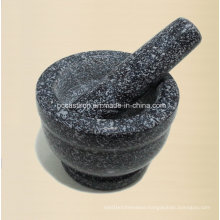 Stone Mortar and Pestle 13X10cm