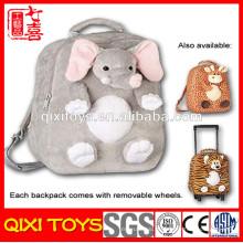 mochila de elefante de pelúcia anime