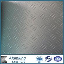 Feuille en aluminium estampé en trois barres pour plancher de cuisine