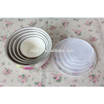 custom enamel ice bowl with PE lids & enamel coating bowl wholesale