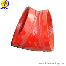 FM UL Approved Ductile Iron 45 Degree Grooved Elbow