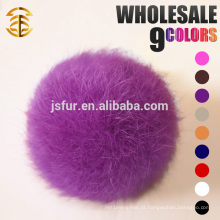 Hot New Products para 2015 Genuine Pom Poms Atacado Lovely Fur Ball 5-10cm Rabbit Fur Keychain
