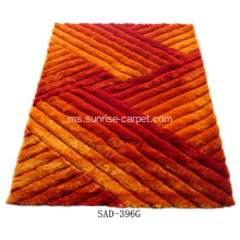 Poliester Silk Shaggy 3D Carpet