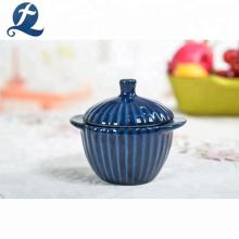 Vente chaude en céramique cuisson pas cher personnalisé imprimé mini restaurant stock pots colorés