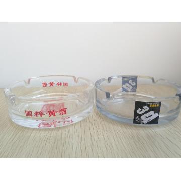 Haonai Clear Glass Ashtray Round Ashtray with custom logo