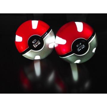 Banco de energía Pokemon Go Ball Banco de energía 10000mAh Chager con luz LED para Go Ar Juego