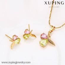 62570- Conjunto de joyas finas, Xuping Jewelry Wholesale Imitation Earring And Colgantes Conjuntos