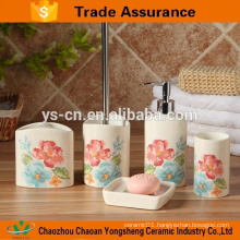 Fantastic made elegant flower ceramic bath accessory