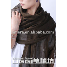 Damen super dünner 100% Leinen Schal / Schal