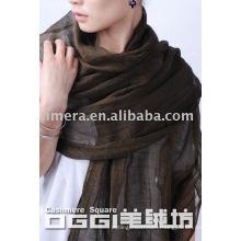 Ladies' super thin 100% linen scarf/shawl