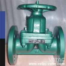 Pn10 / Pn16 Válvula de diafragma de Weir de casco con pernos de Wenzhou