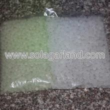 Akrilik plastik 8MM yuvarlak koyu kızdırma Chunky boncuk
