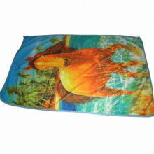 Printed Microfiber Bath Towel, Sized 70*140cm,75*150cm, Weighs 200-500g, Design Upon Request