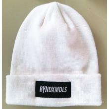 Красивейшая вышитая теплая вязаная шапочка (S-1079)