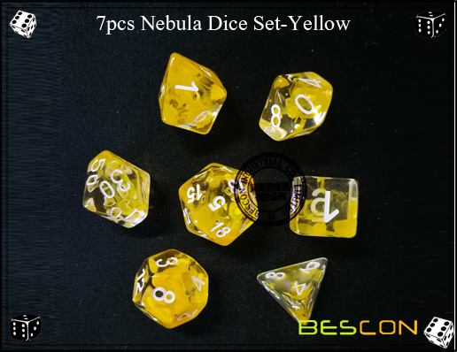 7pcs Nebula Dice Set-Yellow-6