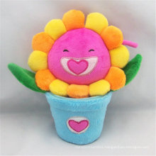Lovely Cartoon Design Custom Made Soft Plush Stuffed Flower Toy
