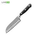5 inch POM Handle Steel Knife Santoku