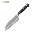 5 polegadas POM Handle Steel Knife Santoku
