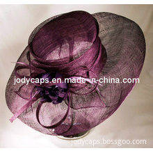 Classical Ladies Wedding New Cool Hats for Party, Party Sinamay Hat, Lady Formal Hat