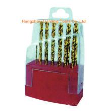 Morceaux de forage HSS Twist en caoutchouc 13PCS emballés en étui en plastique