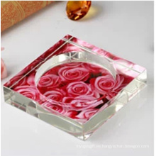 Cenicero de cristal flor hermosa decoración de hogar y oficina (JD-CA-603)