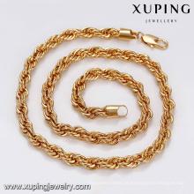 43824-Xuping jóias 18k banhado a ouro colar de corrente de moda para o homem estilo hip hop