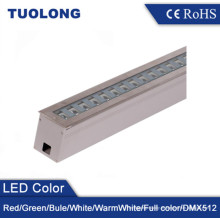 Ángulo ajustable 24W Impermeable LED Inground Luz ajustable Fachada Iluminación RGB Ground Uplights