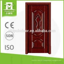 Modèles de portes d'entrée intérieures en bois de teck et porte en bois massif fabriqués en Chine