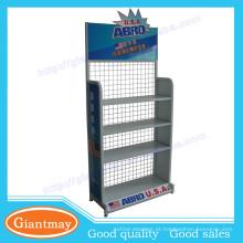 Estrutura robusta de metal metálico produtos de óleo de motor exibir suportes / rack