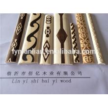Madera blanca para molduras pirográficas de madera / molduras de madera en relieve / molduras de madera tallada