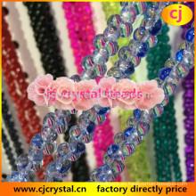 Cuentas de hueso, cuentas de vidrio lampwork, últimas bolas de cristal de diseño, cuentas de cristal liso