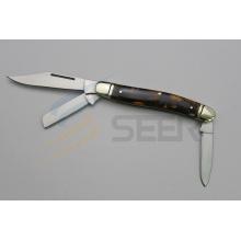 Resin Handle Three Blades Knife (SE-0496)